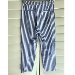 Nasty Gal Pants & Jumpsuits - Striped blue and white pants